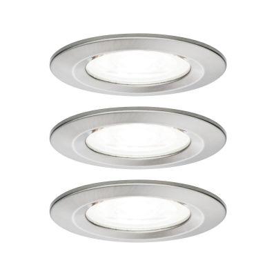 Paulmann Nova lampa do zabudowy 3x6,5W żelazo szczotkowane 92983
