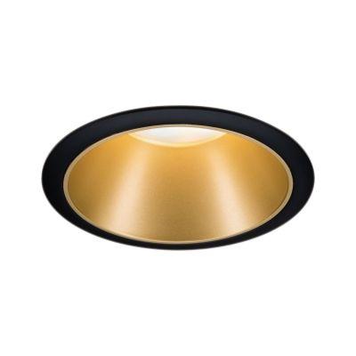 Paulmann Cole Coin lampa do zabudowy 1x6,5W czarny/złoty mat 93403