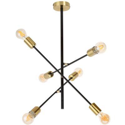 Rabalux Lanny lampa wisząca 6x15W czarna 2104