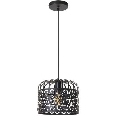 Rabalux Alessandra lampa wisząca 1x60W czarna 2156