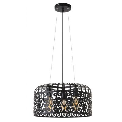 Rabalux Alessandra lampa wisząca 3x60W czarna 2158