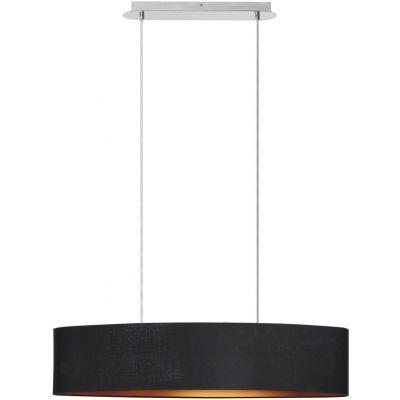 Rabalux Monica lampa wisząca 2x60W czarna 2527