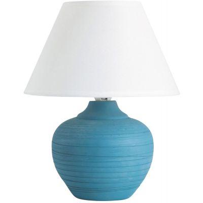 Rabalux Molly lampa stołowa 1x40W biała/niebieska 4392