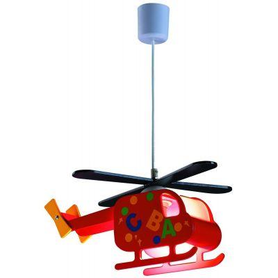 Rabalux Helicopter lampa wisząca 1x40W czerwona 4717