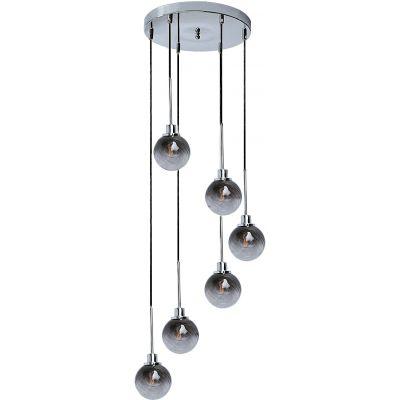 Rabalux Semira lampa wisząca 6x4W chrom/szkło dymne 5004