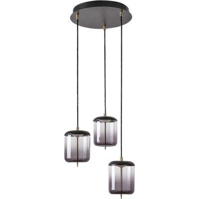 Rabalux Delice lampa wisząca 18W czarny/brązowy/szkło dymne 5027