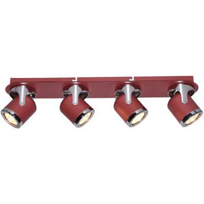 Rabalux April lampa podsufitowa 4x5W czerwona 5040