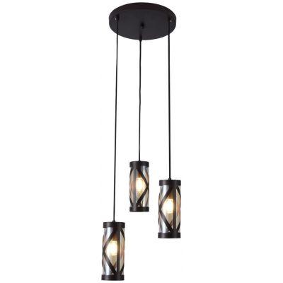 Rabalux Oberon lampa wisząca 3x40W brązowy/bursztynowy 5339