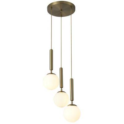 Rabalux Divina lampa wisząca 3x9W złoty/biały 5353