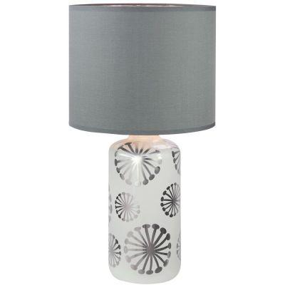 Rabalux Ginger lampa stołowa 1x60W srebrny/popielaty 6029