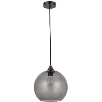 Rabalux Tanesha lampa wisząca 1x40W czarny/dymny 6438