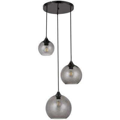 Rabalux Tanesha lampa wisząca 3x40W czarny/dymny 6439