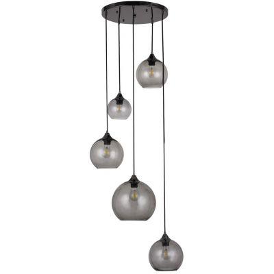 Rabalux Tanesha lampa wisząca 5x40W czarny/dymny 6440