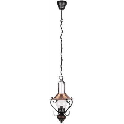 Rabalux Enna lampa wisząca 1x40W czarny/przezroczysty 7869