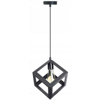 TooLight Denver lampa wisząca 1x60W 180979 czarna OSW-00006
