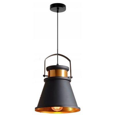 TooLight Asti lampa wisząca 1x60W APP175-1CP czarna/złota OSW-00180