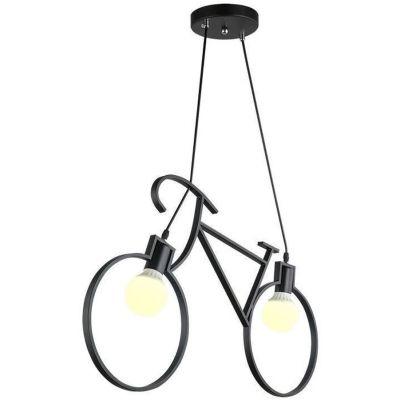 TooLight Rower lampa wisząca 2x60W APP216-2CP czarna OSW-00352