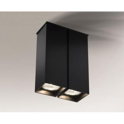 Shilo Toda lampa podsufitowa 2x35W czarna 1105