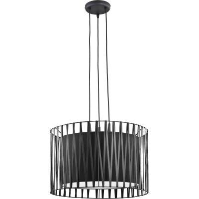 TK Lighting Harmony Black lampa wisząca 3x25W czarna 1655