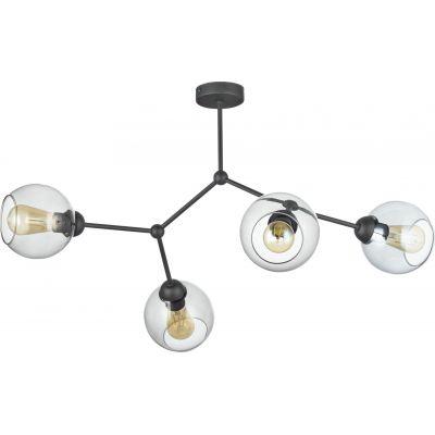 TK Lighting Fairy lampa wisząca 4x60W grafit/czarny 2730