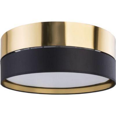 TK Lighting Hilton plafon 3x15W czarny/złoty 4180