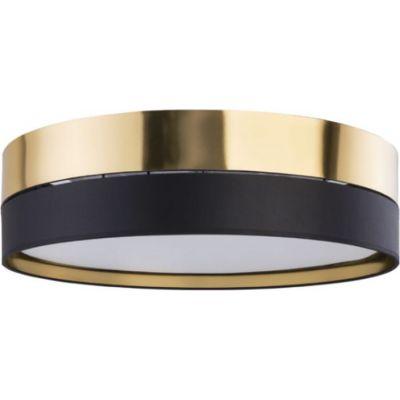 TK Lighting Hilton plafon 4x15W czarny/złoty 4345