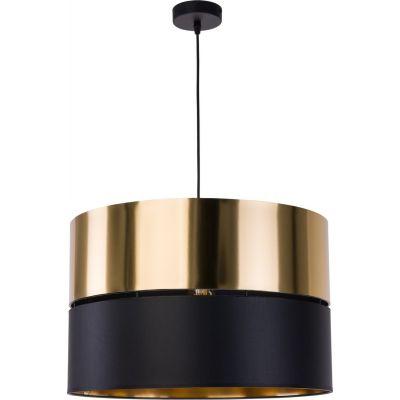 TK Lighting Hilton lampa wisząca 1x25W czarna/złota 4346
