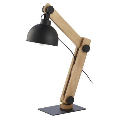 TK Lighting Oslo lampa biurkowa 1x60W sosna/czarna 5021