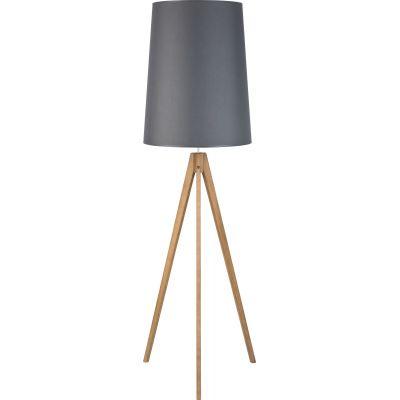 TK Lighting Walz lampa stojąca 1x25W grafit/sosna szczotkowana 5046
