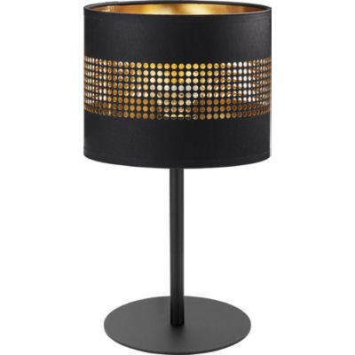 TK Lighting Tago Black lampa biurkowa 1x15W czarna/złota 5054