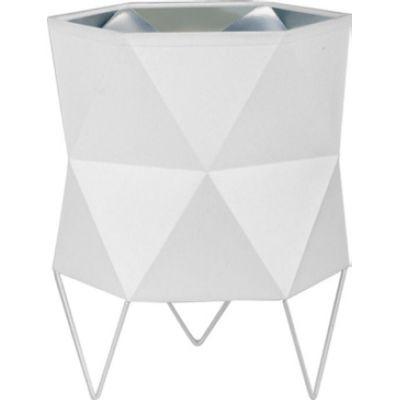 TK Lighting Siro White lampa biurkowa 1x15W biała/srebrna 5168