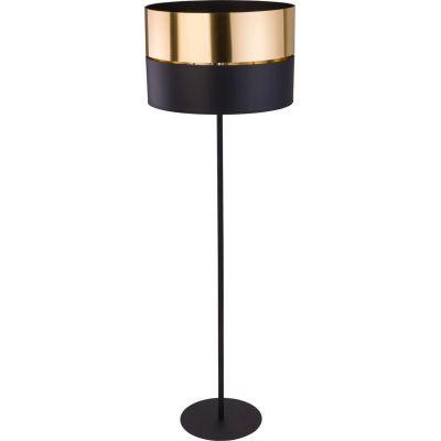 TK Lighting Hilton lampa stojąca 1x25W czarna/złota 5465