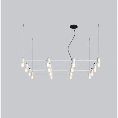 Tooy Quadrante lampa wisząca 16x10W czarny piaskowy 505.16.C74