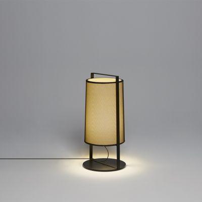 Tooy Macao lampa stołowa 1x10W czarny piaskowy/beżowy 551.32.C74.B-F