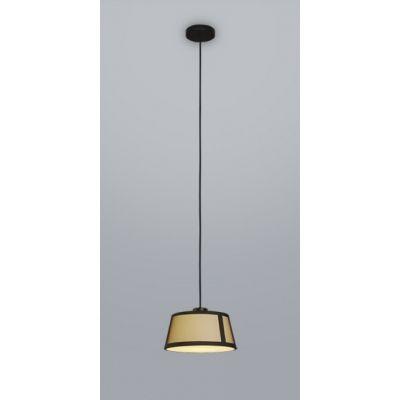 Tooy Lilly lampa wisząca 1x15W czarny piaskowy/beżowy 558.25.C74