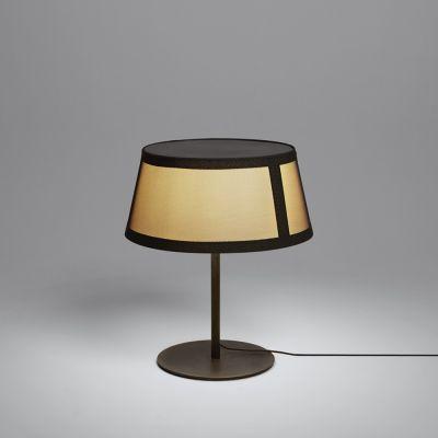 Tooy Lilly lampa stołowa 1x20W czarny piaskowy/beżowy 558.32D.C74