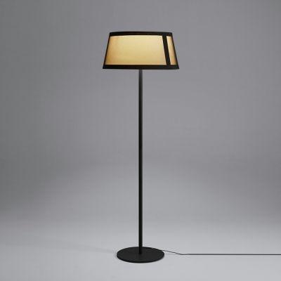 Tooy Lilly lampa stojąca 1x20W czarny piaskowy/beżowy 558.65D.C74