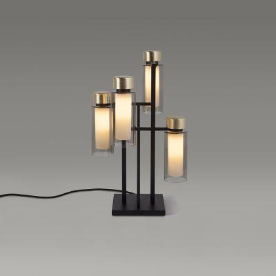 Tooy Osman lampa stołowa 4x10W czarny mat/mosiądz szczotkowany 560.34.C2.C41