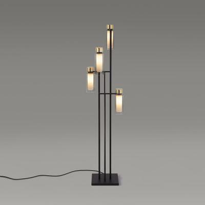 Tooy Osman lampa stojąca 4x10W czarny mat/mosiądz szczotkowany 560.64.C2.C41