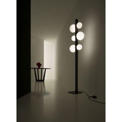 Vesoi ICS 190/ph lampa stojąca 3x60W/3x40W czarny/opal PH00301