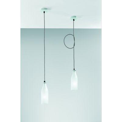 Vesoi IdeaBottles 8/so lampa wisząca 1x4W nikiel/szkło piaskowane/czarny SO00023