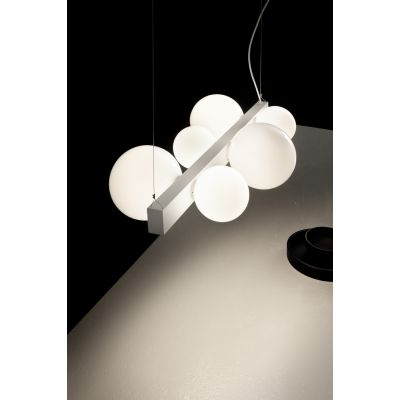 Vesoi ICS 145/so wide lampa wisząca 6x60W/4x40W biały/opal SO01460