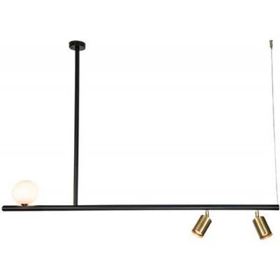 Zambelis Lighting lampa wisząca 2x40W/1x25W czarny mat/mosiądz 18130