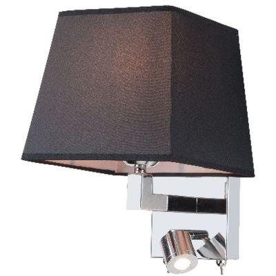 Zambelis Lighting kinkiet 1x40W/1x3W czarny/chrom H26-B