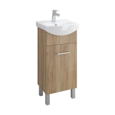 Zestaw Cersanit Cersania New umywalka z szafką zestaw meblowy 40 cm biały/orzech (K110050, S543015DSM)