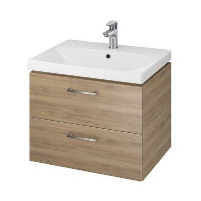 Cersanit Lara umywalka z szafką 60 cm zestaw meblowy orzech S801-157-DSM