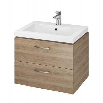 Cersanit Lara umywalka z szafką 60 cm zestaw meblowy orzech S801-148-DSM