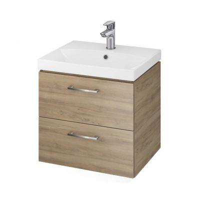 Cersanit Lara umywalka z szafką 50 cm zestaw meblowy orzech S801-155-DSM