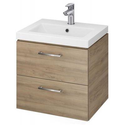 Cersanit Lara umywalka z szafką 50 cm zestaw meblowy orzech S801-153-DSM