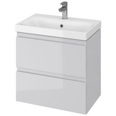 Cersanit Moduo umywalka z szafką 60 cm zestaw meblowy Slim biały/szary S801-226